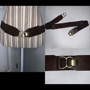 Brown Waist Belt Stretchy